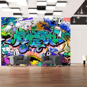 Vlies Tapete ! Top ! Fototapete ! Wandbilder XXL ! 350x256 cm GRAFFITI f-A-0018-a-c