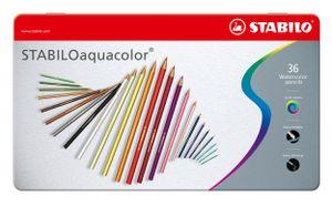 STABILO Aquarell Buntstift aquacolor 36er Metall Etui