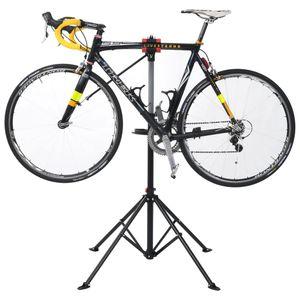 Fahrrad-Reparaturständer 103x103x(115-200) cm Stahl Schwarz