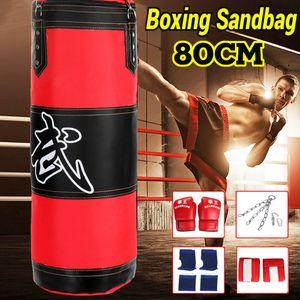 Sandsack Boxen Boxsack Kickboxen Boxhandschuhe Boxset Stahlkette mit Handschuhe