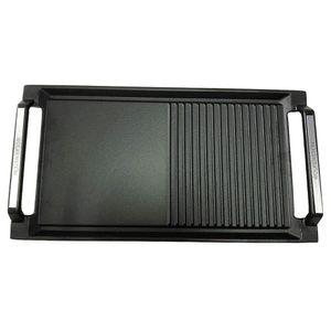 WOLKENSTEIN Grillpfanne GP 1W Gusspfanne Grillplatte Gusseisen 3,5x45,5x27,2 cm