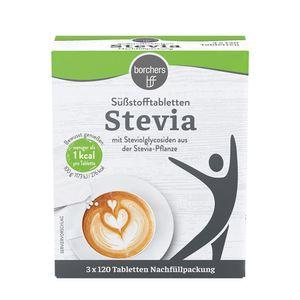 borchers Stevia Süßstofftabletten   Nachfüllpack 3 x 120 Stk.   ideal für heiße Getränke
