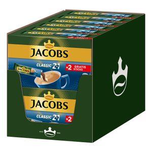 JACOBS Löskaffee Classic 2in1 löslicher Kaffee 12 x 10+2 Sticks Instantkaffee