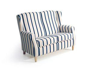 Max Winzer Lorris Sofa 2-Sitzer - Farbe: blau - Maße: 139 cm x 86 cm x 103 cm; 2900-2100-2077808-F01