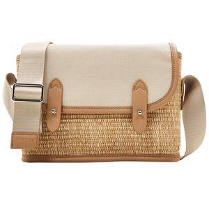 Esprit Janie Satteltasche Shoulderbag Umhängetasche Crossbag 051EA1O315, Farbe:Beige