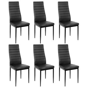 WYCTIN Esszimmerstühle 6 Set Küchenstuhl Esszimmerstuhl Wohnzimmerstühle Schwarz