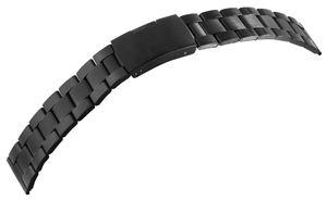 7daysin-Ersatzarmband Gliederarmband Edelstahl Faltschließe Stegbreite 8100090 Größe in mm: 24 mm