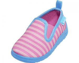 Playshoes Hausschuh Ringel pink/türkis Mädchen 201817-792, Größe:24/25, Farbe Playshoes:pink/türkis
