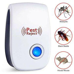 5 Stück Gegen Mäuse Ultraschall Schädlingsbekämpfer Elektronische Insektenschutzmittel,Tiervertreiber durch Ultraschall Mäuseabwehr Rattenfalle Weiß