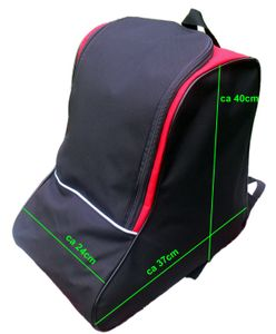 SKISCHUHTASCHE Snowboard Schuhe Rollschuhe Inlineskates Tasche Bootsbag ROT