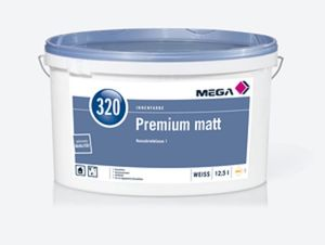 MEGA 320 Premium Matt 12,5 Liter weiß