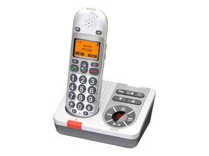 Audioline Bigtel 280 Strahlungsarmes Schnurlostelefon mit Anrufbeantworter, Rufnummernanzeige, Freisprechfunktion, DECT