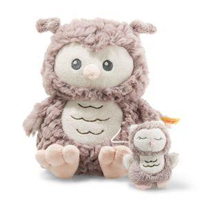 Steiff 241840 Soft Cuddly Friends Ollie Eule Spieluhr 21 cm rosebraun