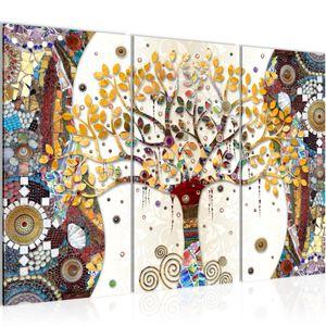Gustav Klimt - Baum des Lebens BILD 120x80 cm − FOTOGRAFIE AUF VLIES LEINWANDBILD XXL DEKORATION WANDBILDER MODERN KUNSTDRUCK MEHRTEILIG 004631a