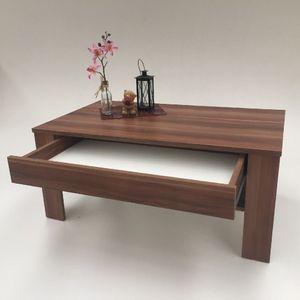 Möbel SD Couchtisch EWA mit Schubkasten Nussbaum Optik