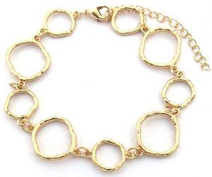 gliederarmband Lynn damen 18-22 cm edelstahl gold