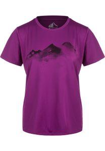 WHISTLER Funktionsshirt ELISE W o-neck Printed mit trendigem Frontprint 4044 Grape Juice 46