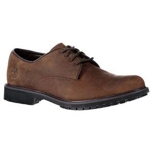 Timberland Stormbuck Plain Toe Oxford Shoes Burnished Dark Oiled Brown EU 44
