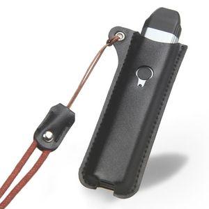 E Zigarette Tasche Kompatibel mit Uwell Caliburn, Anti Rutsch Kunstledertasche mit Lanyard -Black