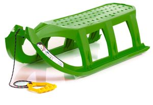 Prosperplast Kinderschlitten Ist Rodelschlitten Rennschlitten Bob Kunststoff , Farbe:grün