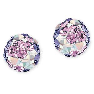 Prinzessin Lillifee Kinder Ohrringe Silber Kristalle lila 2013162