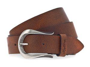 Mustang Damen Leder Gürtel Ledergürtel 30 mm cognac weiches Vollrindleder Damengürtel 95