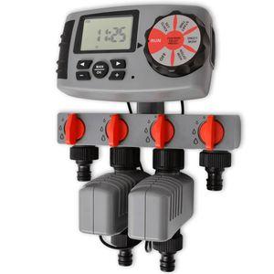 vidaXL 42352  Automatischer Bewässerungs-Timer mit 4 Stationen 3 V.