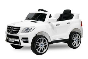 Lizenz Kinder Elektro Auto Mercedes ML350 Premium 2x 25W 12V 2.4G RC Weiss