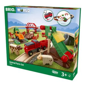 Großes BRIO Bahn Bauernhof-Set