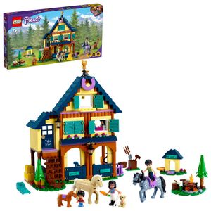 LEGO 41683 Friends Reiterhof im Wald, Pferdestall Spielzeug mit Pferden und Pony Figuren
