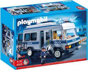 Playmobil 4023 Polizei Mannschaftswagen mit Figuren