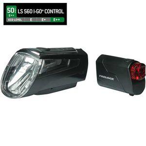 Trelock Batterie- /Akku-Front - Rückbeleuchtung LS 560 LS 720 Set, black, 50 LUX