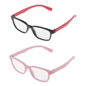 2x Kinderbrille Blau Blockierender Silikonrahmen UV400 Kinder Computerbrille