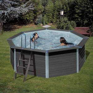 GRE Composite Pool Ø 410 cm Rundbecken, 124 cm hoch Schwimmbecken