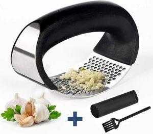 3 In 1 Knoblauchpresse Edelstahl Knoblauchschäler Knoblauchpresse Küche Tool DE