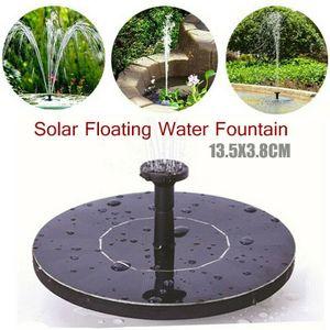 Miixia Wasserspiel Springbrunnen Solar Pumpe Teichpumpe Brunnen Fontäne Teich Garten Mit 5 Verschiedenen Sprühmusterköpfen