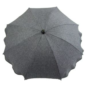 BAMBINIWELT Sonnenschirm für Kinderwagen Ø68cm UV-Schutz50+ Schirm Sonnensegel Sonnenschutz MELIERT dunkelgrau