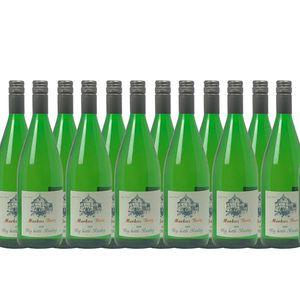 Weißwein Mosel Riesling Weingut Markus Burg Qualitätswein Big Bottle  trocken und vegan (12 x 1,0l)
