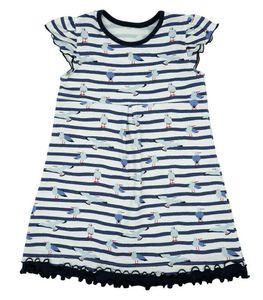 Maximo® Mädchen Kleid Sommerkleid Möwen , Größe:104, Präzise Farbe:Marine