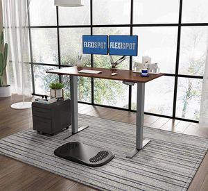Flexispot  Elektrisch Höhenverstellbarer Schreibtisch mit Tischplatte 2-Fach-Teleskop, mit Memory-Steuerung (Mahagoni)