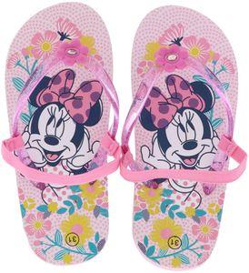 Leomil Kinder Mädchen Zehentrenner Badeschuhe Minnie Mouse pink/mehrfarbig, Größe:26, Farbe:Pink