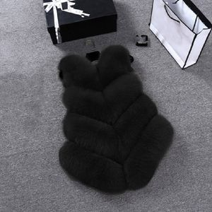 Schlanke Weste wie Damen Gilet Outwear Warme Kunstpelz Weste Jacke Mantel TYM90923911 Größe:M,Farbe:Schwarz