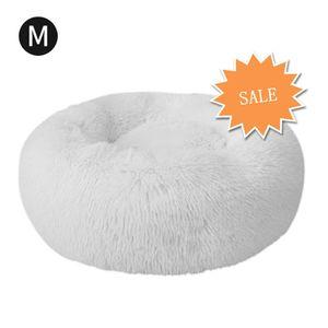 Hikeren Katzenbett, Kissen Flauschig, Weich u Waschbar für Katzen Hunde, Durchmesser 60cm,Weiß