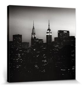 New York Poster Leinwandbild Auf Keilrahmen - Dynamic Duo, Nyc, Hakan Strand (40 x 40 cm)