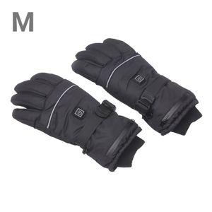 Wiederaufladbare beheizte Handschuhe Wasserdichte Handschuhe Isolierte Handschuhe Automatisch regulieren elektrische warme beheizte Handschuhe Outdoor-Wintersport-Skihandschuhe Rutschfeste Handschuhe (M)