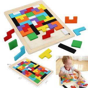 Puzzle Tangram Kinder Lernspielzeug Pädagigisches Lernspiel Mehrfarbig Steckpuzzles Bunt Holzpuzzle Formen Spielzeug
