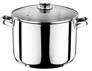 14 Liter Kochtopf mit Glasdeckel Suppentopf Topf aus Edelstahl 27x28cm Eintopf