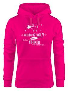 Damen Hoodie Einhorn Verrückt ich neee.. das hätte mein Einhorn mit doch gesagt Spruch Moonworks® pink XL