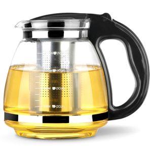 Glas Teekanne Teesieb Teebereiter Teepot Glaskanne 2000ml Edelstahl Sieb
