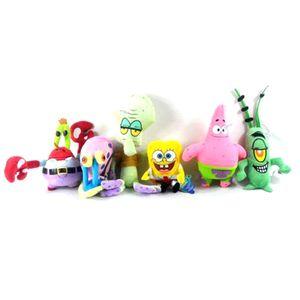 6pc / lot SpongeBob Plüschtier Patrick Star Thaddäus Tentakel Eugene Sheldon Gary weich ausgestopfte Puppen Kinderspielzeug